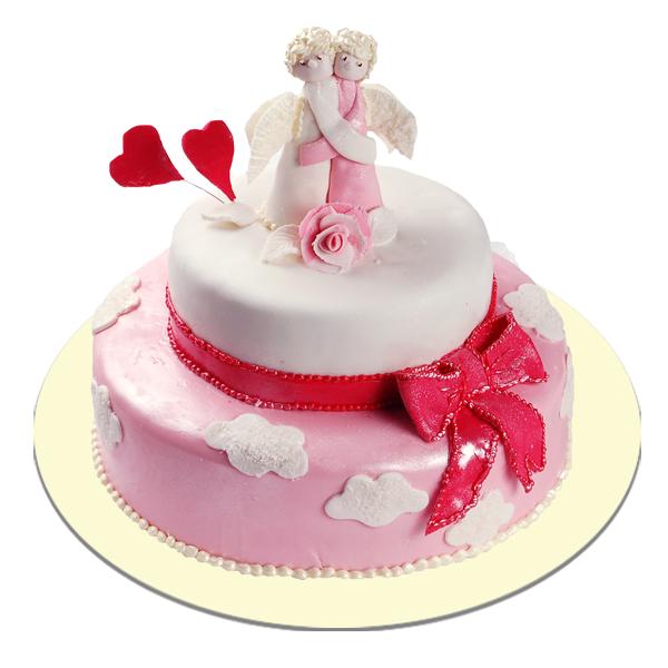 Фото свадебного торта с ангелами