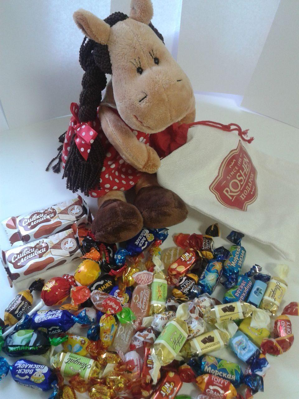 Состав детских Новогодних подарков СладКо конфеты 64